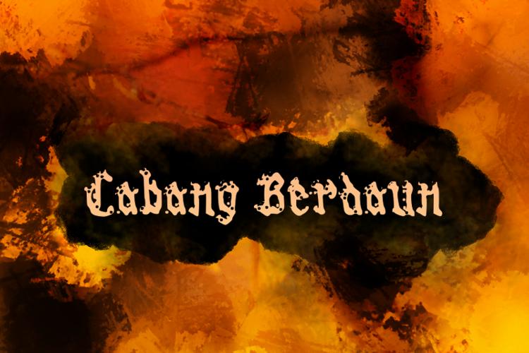 c Cabang Berdaun Font