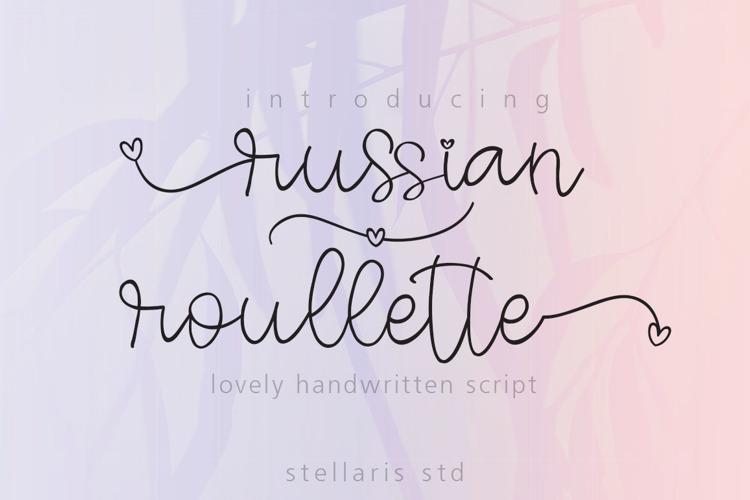 russian roullette Font