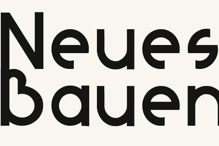 Neues Bauen Font