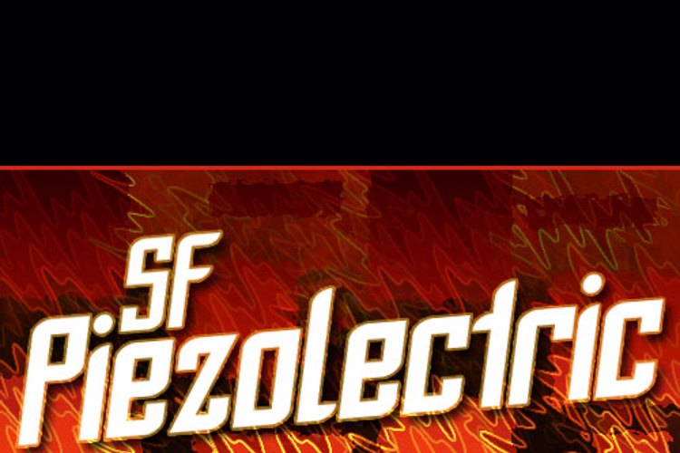 SF Piezolectric Font