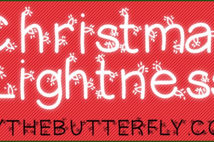 ChristmasLigtness Font