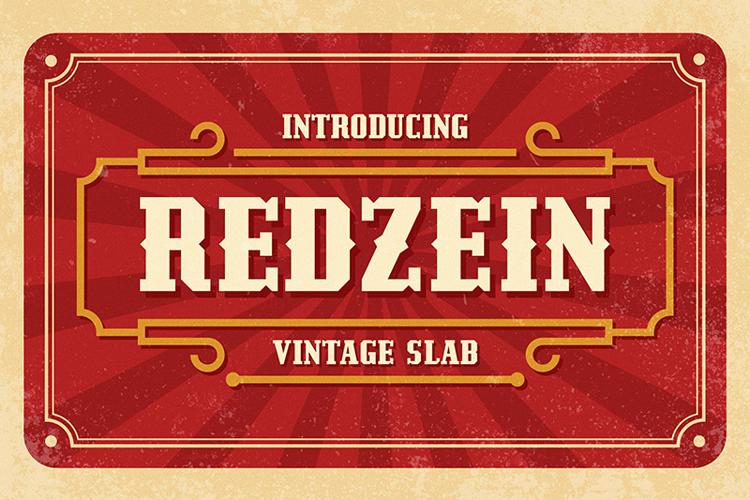 Redzein Vintage Font