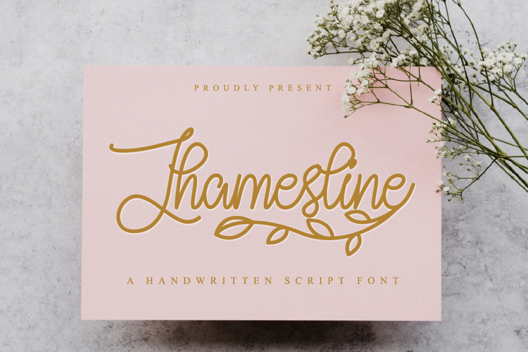 Jhamesline Font