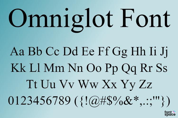 Omniglot Font