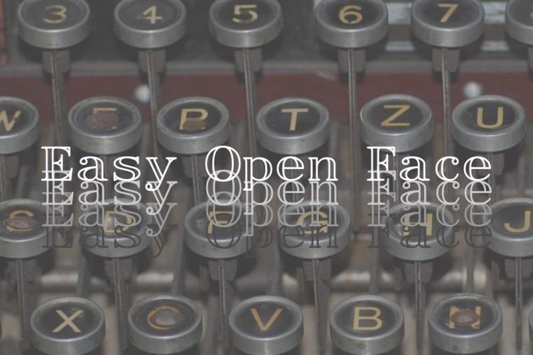 EasyOpenFace Font