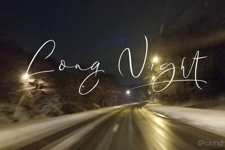 Long Night Demo Font