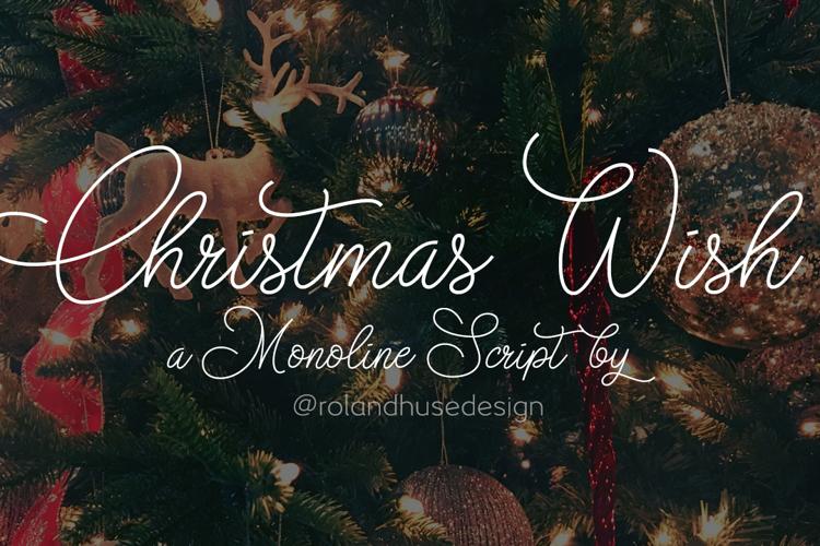 Christmas Wish monoline Font