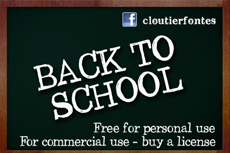 CF Back to School Font