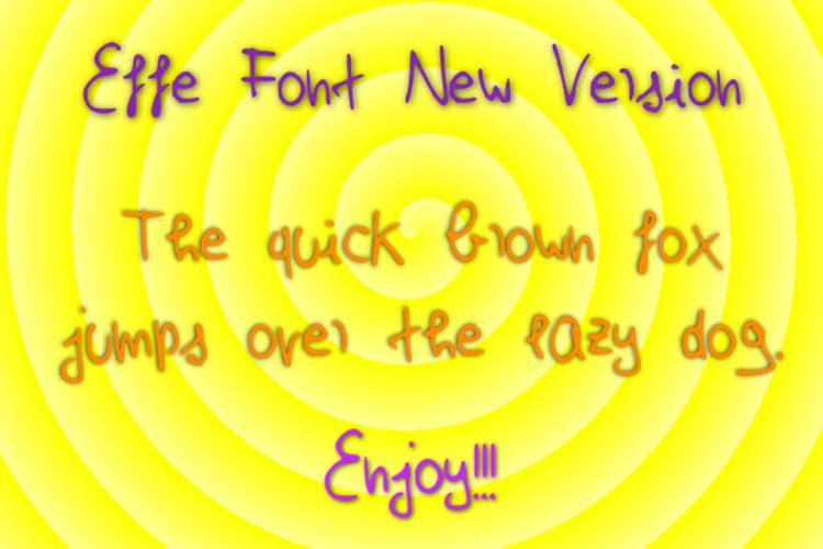 Effe New Version Font
