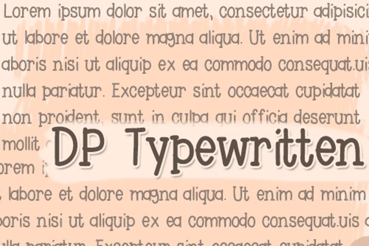 DPTypewritten Font