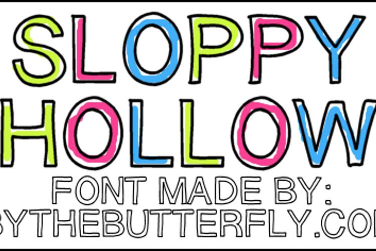SloppyHollow Font