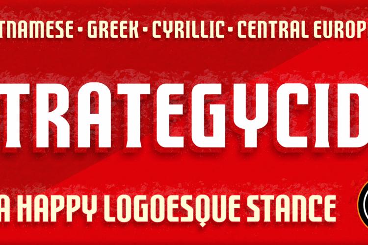 FTY STRATEGYCIDE NCV Font