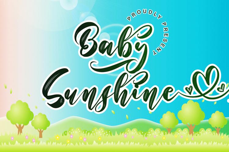 Baby Sunshine Font