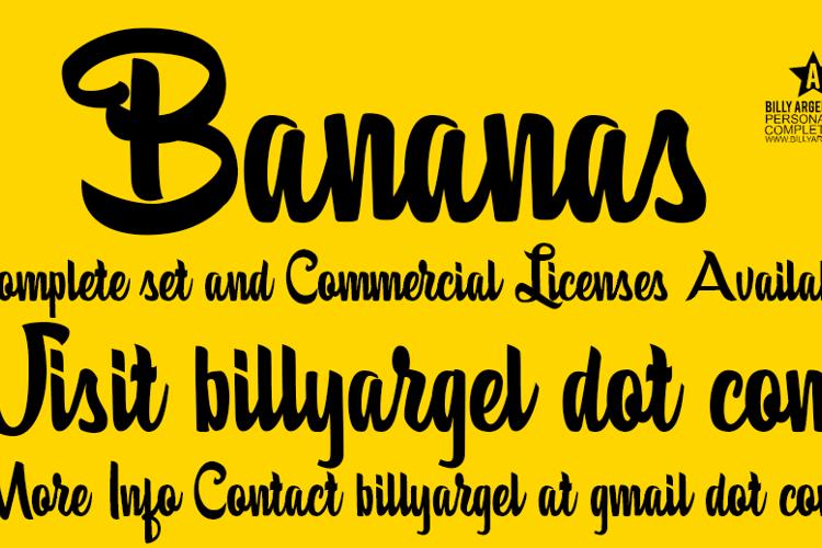 Bananas Font