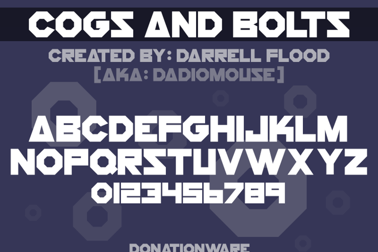 Cogs And Bolts Font