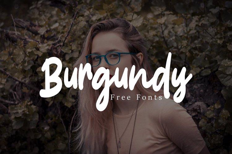 Burgundy Font