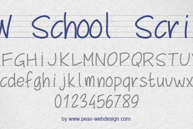 PWSchoolScript Font
