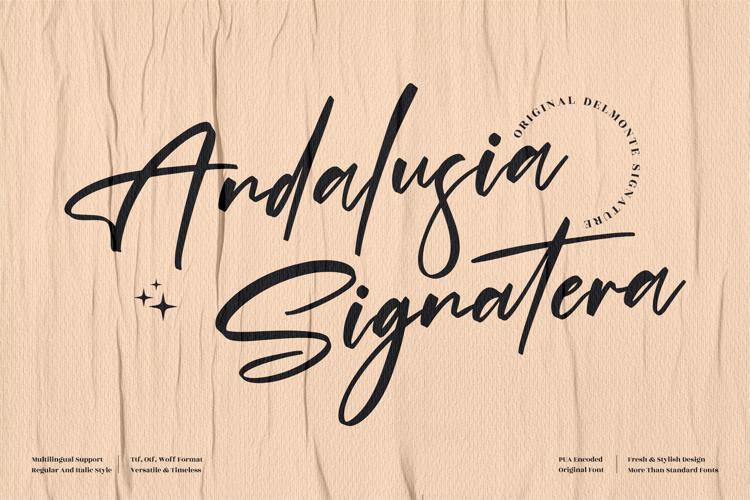 Andalusia Signature Font