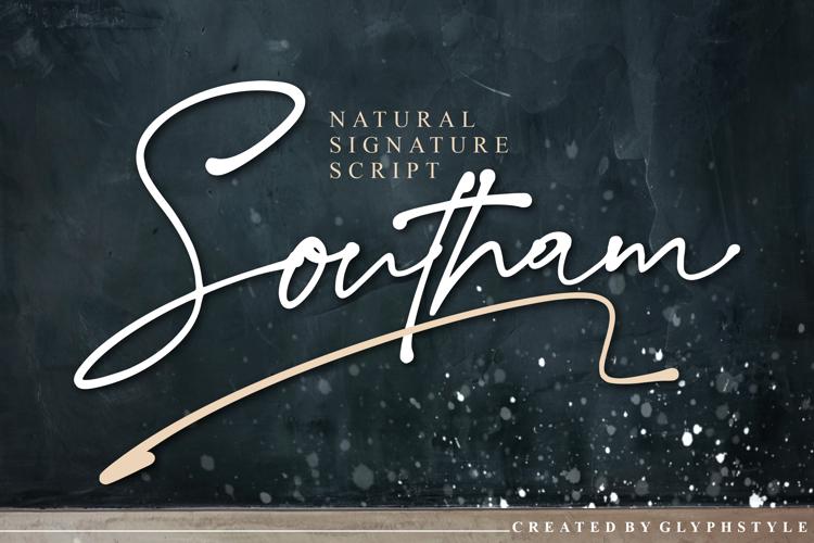 Southam Natural Signature Script Font