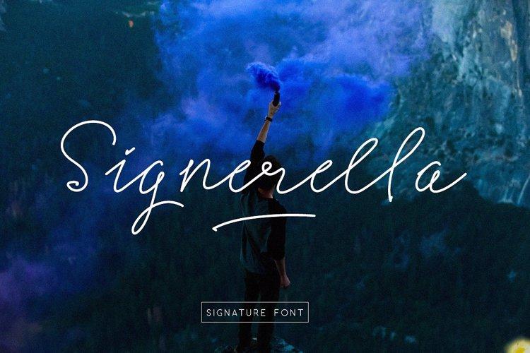 Signerella Script Font