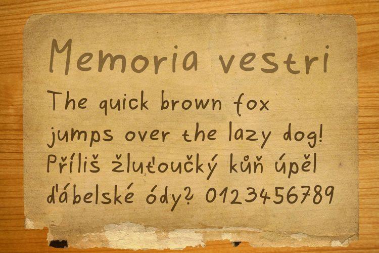 Memoria vestri Font