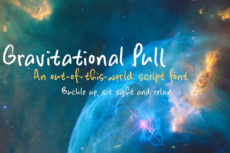 Gravitational Pull Font