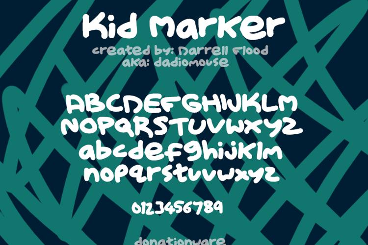Kid Marker Font