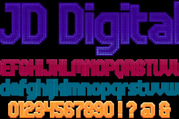 JD Digital Font