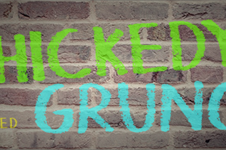 Thickedy Grunge Font