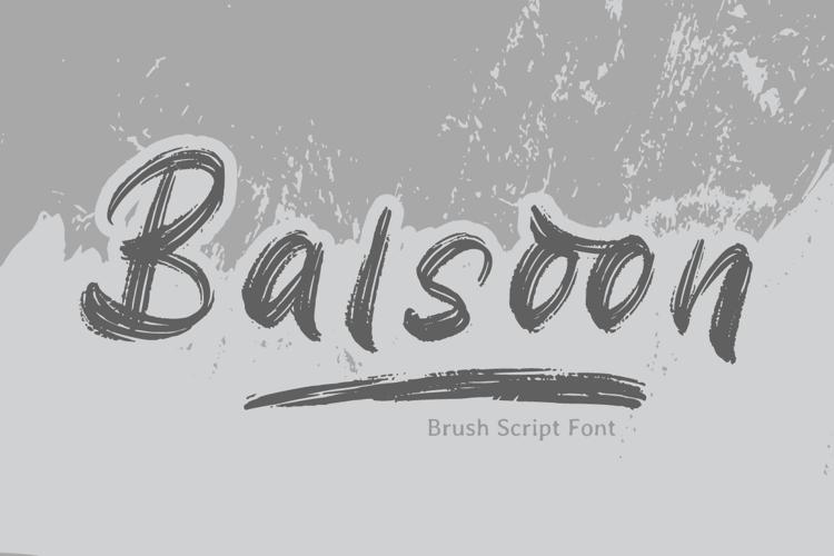 Balsoon Font