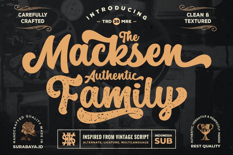 The Macksen Font