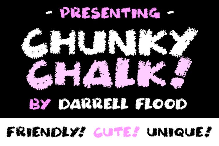Chunky Chalk Font