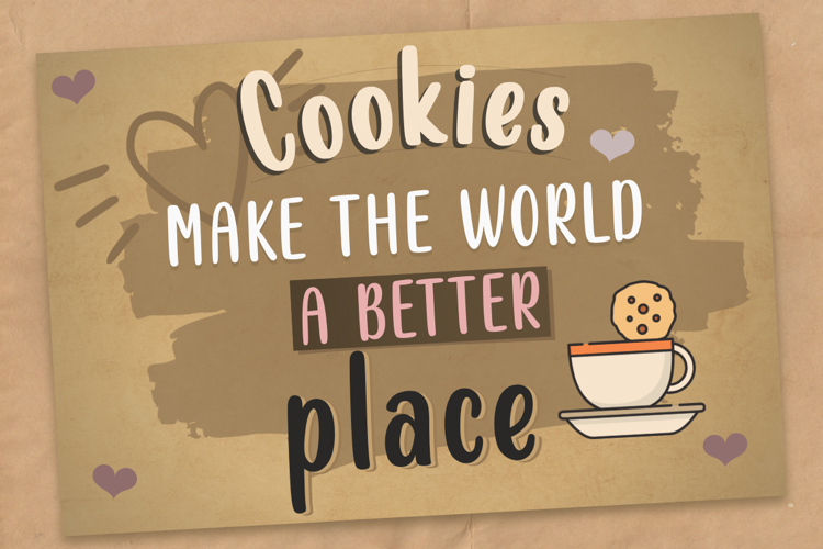 Almond Cookies Font