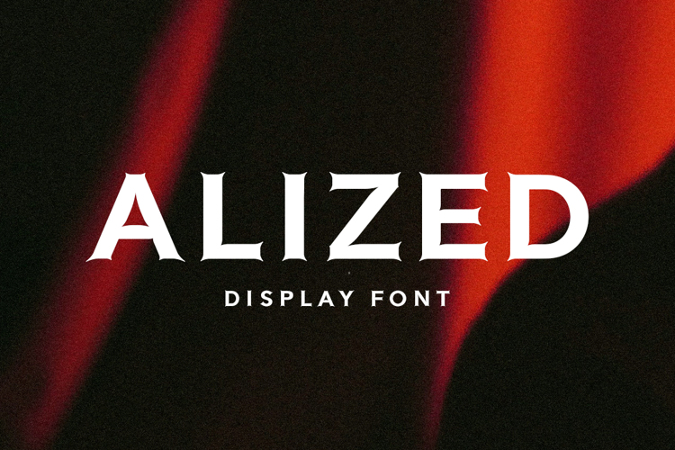 Alized Display Font