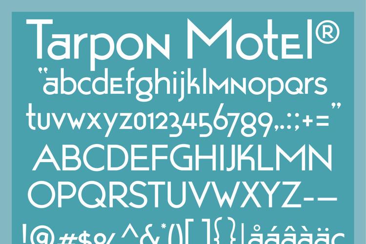 Tarpon Motel Font