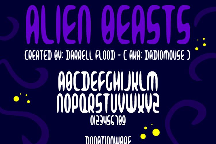 Alien Beasts Font