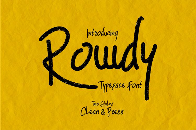 Rowdy Font