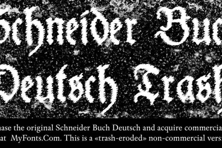 Schneider Buch Deutsch Trash Font