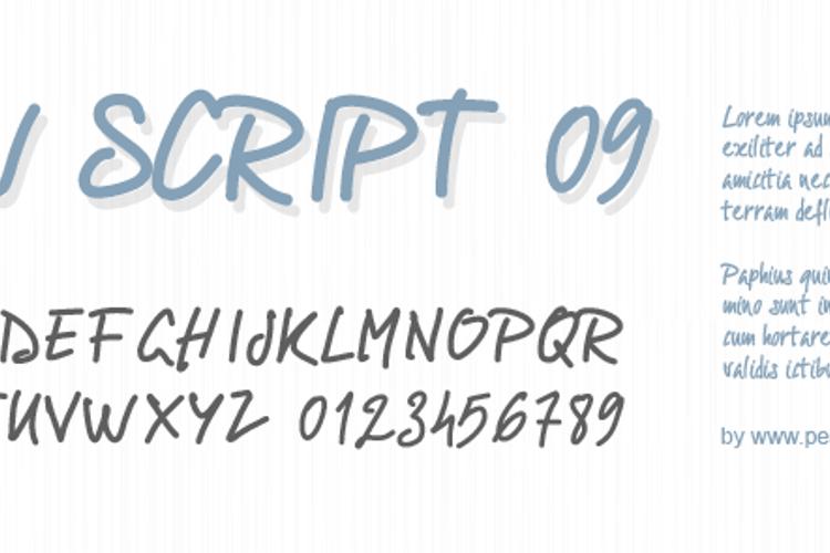 PWScript09 Font