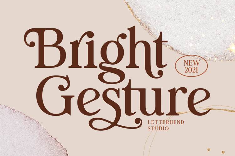 Bright Gesture Font