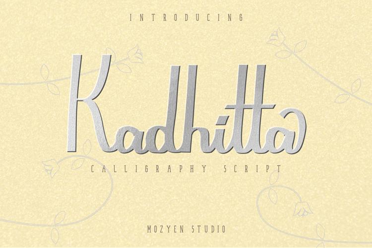 Kadhitta Trial Font