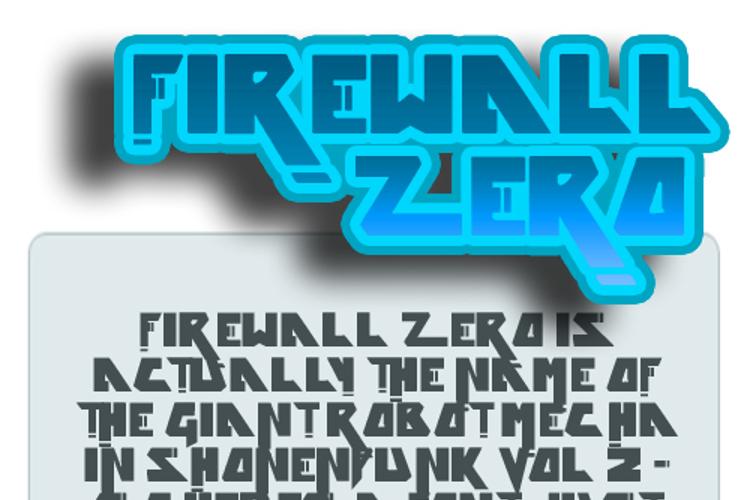 Firewall zero Font