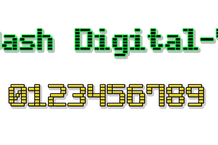 Dash Digital-7 Font