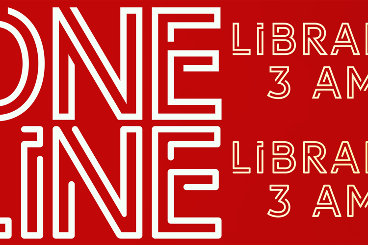 LIBRARY 3 AM Font