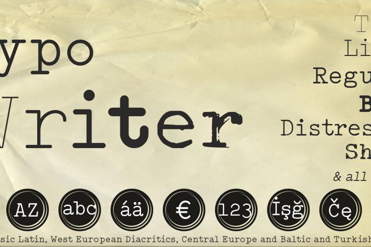 Typo Writer Demo Font