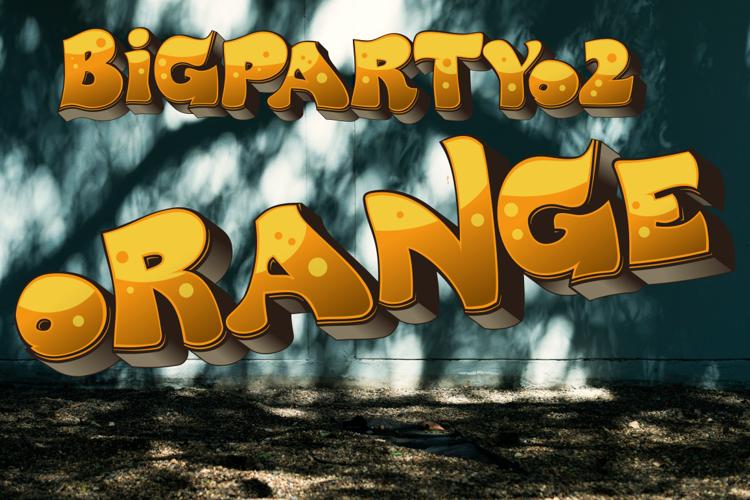 BigPartyO2-Orange Font