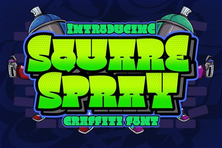 Square Spray Font