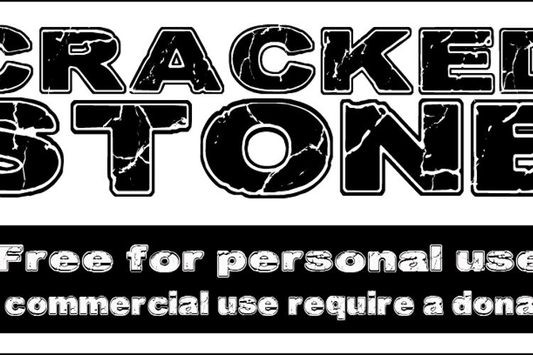 CF Cracked Stone Font