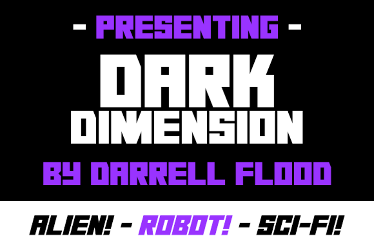 Dark Dimension Font