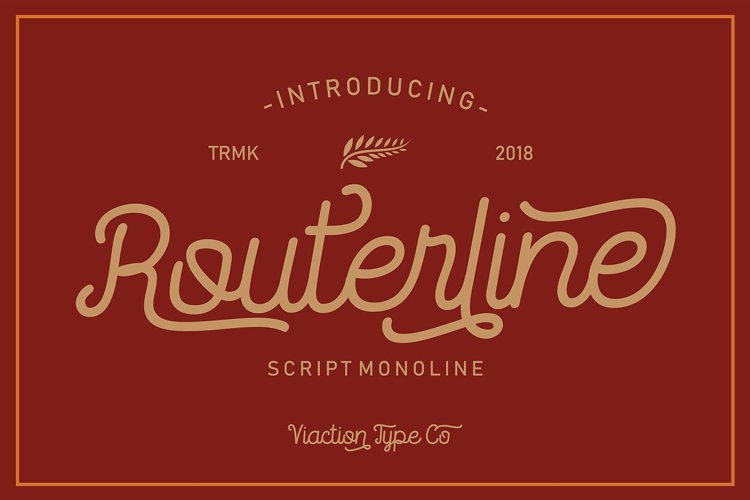 Routerline Font